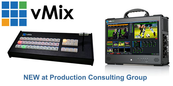 vMix now available from PCG