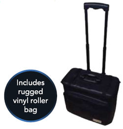 vMix GO includes rugged vinyl roller bag